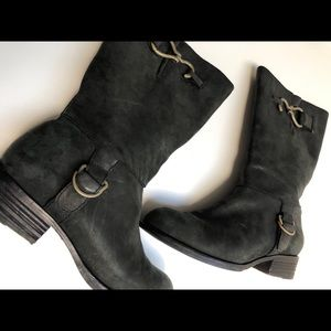 Cole Haan Mid Calf Black Boots Size 9 Runs Small